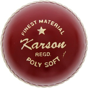 Karson Cricket Hard Ball Red