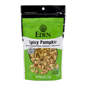 Eden Organic Spicy Pumpkin Dry Roasted Seed 113g