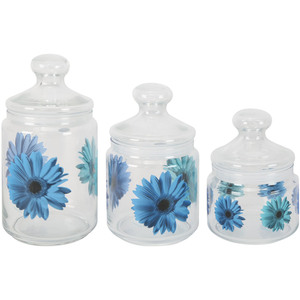 Luminarc Glass Canister Set 3pcs Assorted