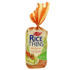 Real Foods Rice Thins Wholegrain 150g