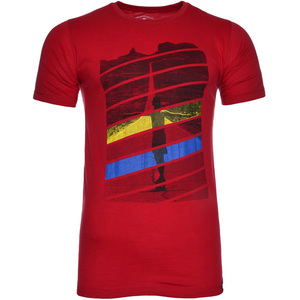 De Backers Men's Printed Round-Neck T-Shirt Red