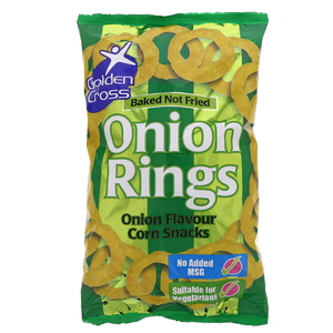 Golden Cross Onion Rings Corn Snacks 150g