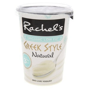 Rachel's Organic Low Fat Yoghurt Greek Style Natural 450g
