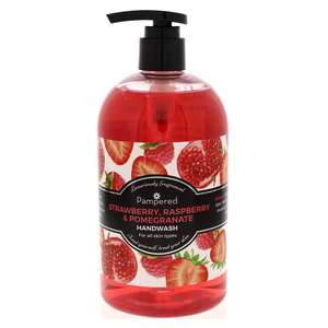 Pampered Strawberry, Raspberry & Pomegranate Fragranced Hand Wash  500m