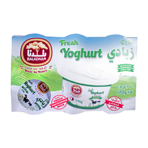 Baladna Yoghurt Full Fat 6 x 170g
