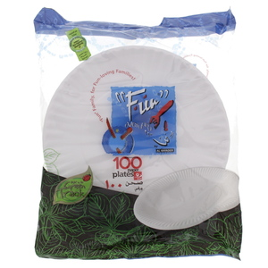 Fun Disposable Paper Plates 9inch 100pcs
