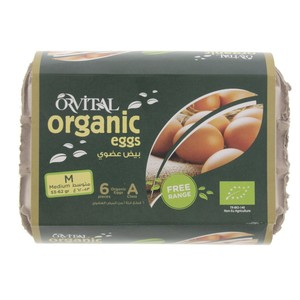 Orvital Organic Eggs Medium 6pcs
