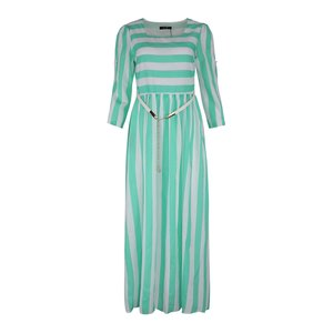 Eten Women's Long Dress Green Striped