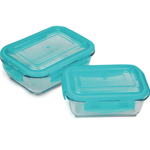 Home 4Lock Container 2pcs Assorted Colours