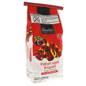 Essential Everyday Instant Light Briquets Ridge Charcoal 2.8kg