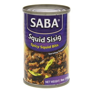 Saba Squid Sisig Spicy Squid Bits 155g