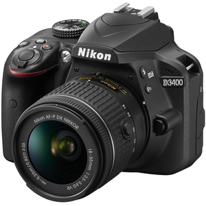Nikon SLR Camera D3400 + AF-P 18-55mm Lens Black