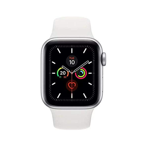Buy Apple Watch Series 5 GPS MWV62AE 40mm Silver Aluminium