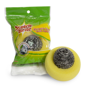 Scotch Brite Metallic Spiral With Sponge 1pc