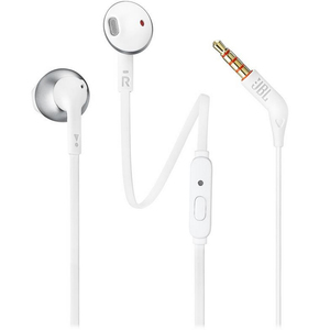 JBL In-Ear Headphone T205 White Chrome
