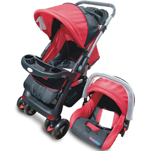 First Step Stroller With CarSeat C18D Red+Black