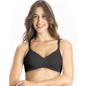 Jockey Women's Seamless Cross Over Bra 1721 Black 34B