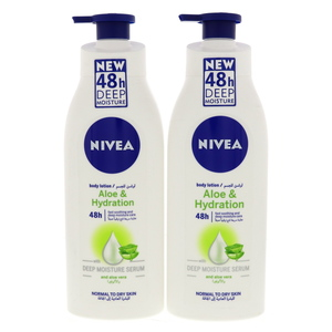 Nivea Body Lotion Aloe & Hydration 48h Deep Moisture 2 x 400ml