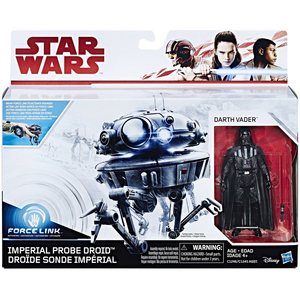 Star Wars Force Link 3.75 inch Action Figures - Imperial Probe Droid and Darth Vader C1245