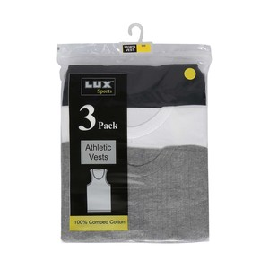 Lux Men's Vest Assorted Colors 3Pcs Pack 121
