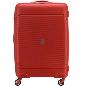 Delsey Sejour 4 Wheel Hard Trolley 66cm Red