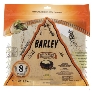 Mountain Bread Barley Wraps 8s 200g