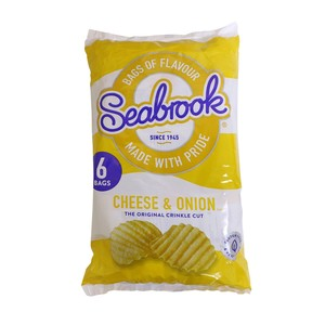 Seabrook Cheese and Onion Crinkle Crisp 6 x 25g