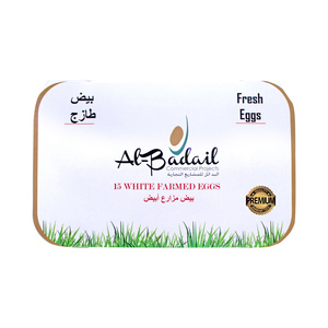 Al Badail White Eggs Large 15pcs
