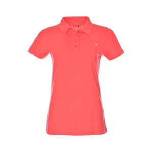 Eten Ladies Basic Polo T-Shirt Sugar Coral