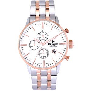 Tornado Men's Chronograph Watch Stainless Steel Two tone Band T6102-RBKSK