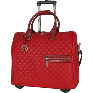 Cortigiani Women's Bag With Trolley 2Wheel 1023-1 Red/Black