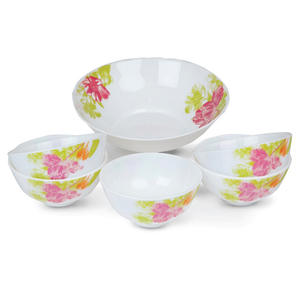 Chefline Opalware Bowl Set 7pc Assorted Color