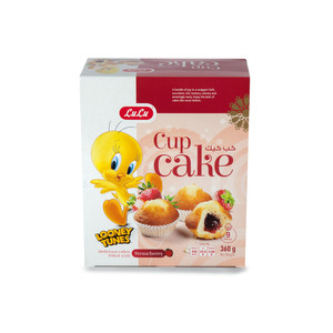 Lulu Cup Cake Strawberry Filled 360g
