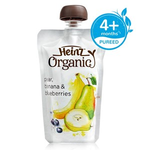 Heinz Organic Baby Food Pear, Banana and Blueberry 120g