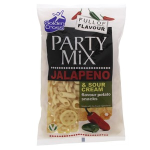 Gold Cross Party Mix Potato Snacks Jalapeno & Sour Cream 125g