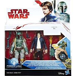 Star Wars Force Link 2 Figures Pack Han Solo and Boba Fett C1242/1244