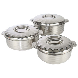 Chefline Stainless Steel Hot Pot Flora 3pcs 2.5L+3.5L+5Ltr