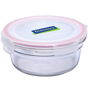 Glass Lock Round Glass Container  RP525