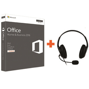 Microsoft Office Home & Business 2016 For MAC + Microsoft Lifechat Headset LX-3000