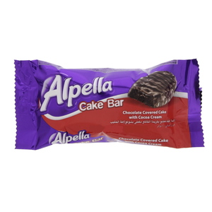 Alpella Chocolate Covered Cake With Cocoa Cream 40g