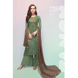 Semi Stitched Women's Churidar Material Fiona Royal 22195