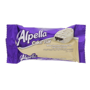 Alpella White Chocolate Covered Cake With Cocoa Cream 40g
