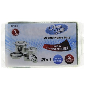 Home Mate 2 in 1 Sponge Scourer 1pc