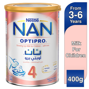 Nestle NAN Optipro Stage 4 From 3 to 6 years Growing Up Milk for Children with Iron 400g