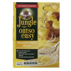 Jungle Oatso Easy Bannana And Toffee Flavour Instant Oats 500g