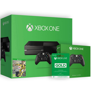 Xbox One 500GB Console + Fifa 17 (DLC) + 3 Months Live Card + 1 Additional Controller