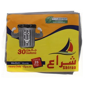 Shiraa Heavy Duty Medium 30Gallon Size 80x70cm 25pcs