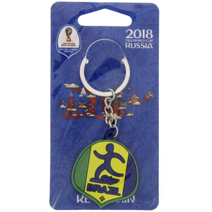 Fifa Rubber Key Chain Brazil 83-256