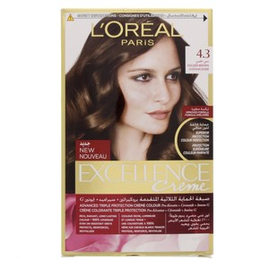 L'Oreal Excellence Creme Golden Brown 4.3 1 Packet