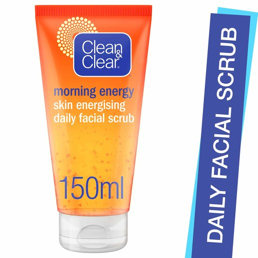 Clean & Clear Daily Facial Scrub Morning Energy Skin Energising 150ml